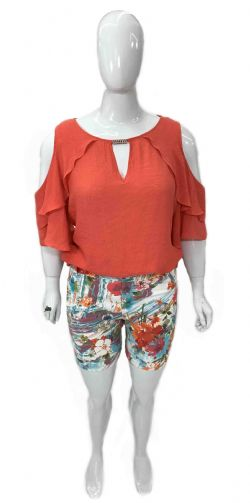 Blusa Plus Size Ref 09997 / Shorts Plus Size Ref 09996